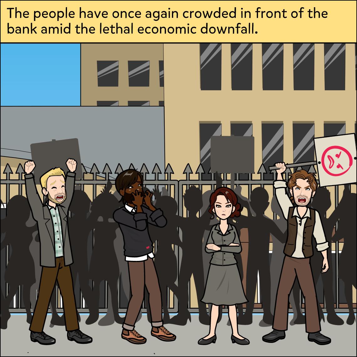 the great depression lesson exemplar comic panel 1