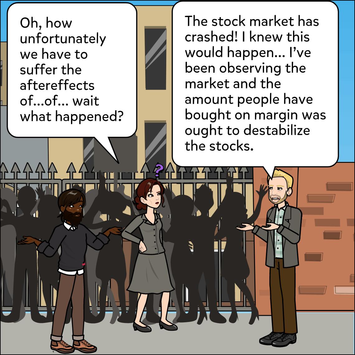 the great depression lesson exemplar comic panel 3