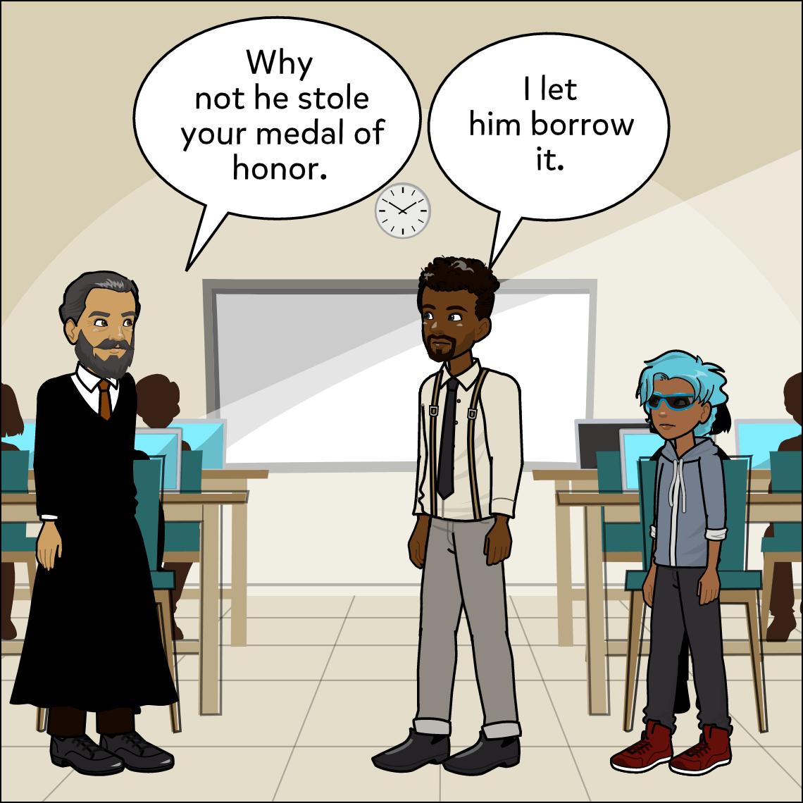 recreating stories lesson exemplar comic panel 3