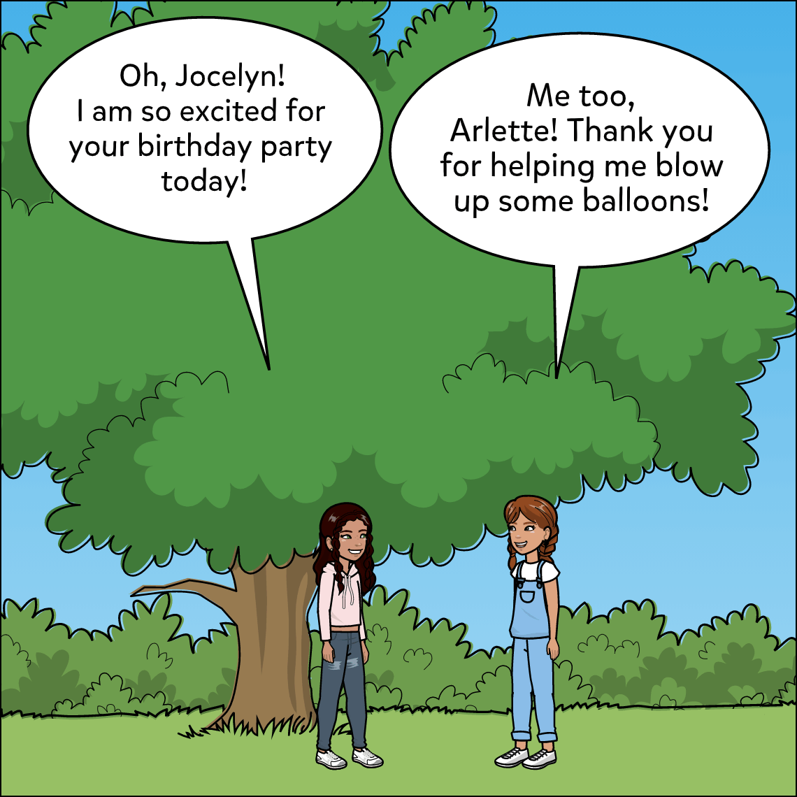 party balloons subtraction word problem lesson exemplar comic panel 1