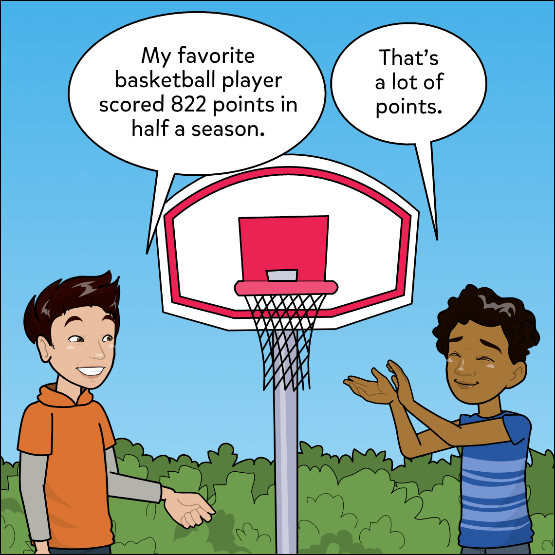 represent numbers in different ways lesson exemplar comic panel 1