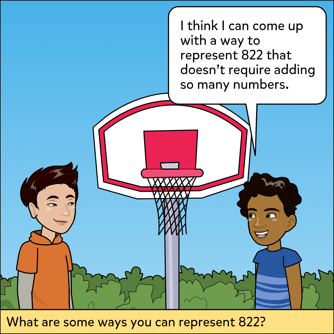represent numbers in different ways lesson exemplar comic panel 3